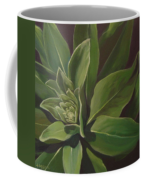 Closeup Of Mullein Plant Coffee Mug featuring the painting Beautiful Stranger by Hunter Jay