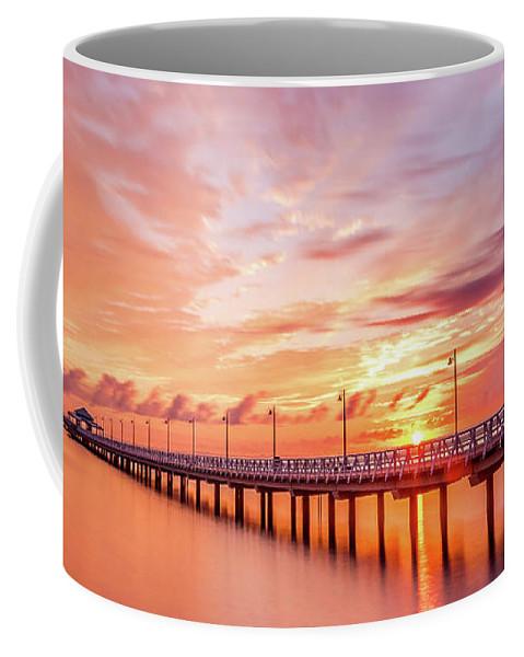 Australia Coffee Mug featuring the pyrography Beautiful Sunrise by Cameron Richardson