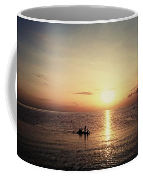Sunset Coffee Mug featuring the mixed media Beautiful Sunset by Katherine Anne Densing