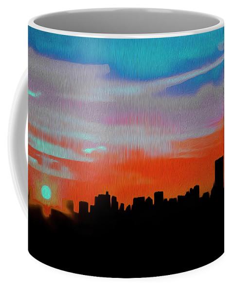Beautiful Sunset Oil Paint Coffee Mug featuring the photograph Beautiful Sunset Oil Paint by Akin Samuel
