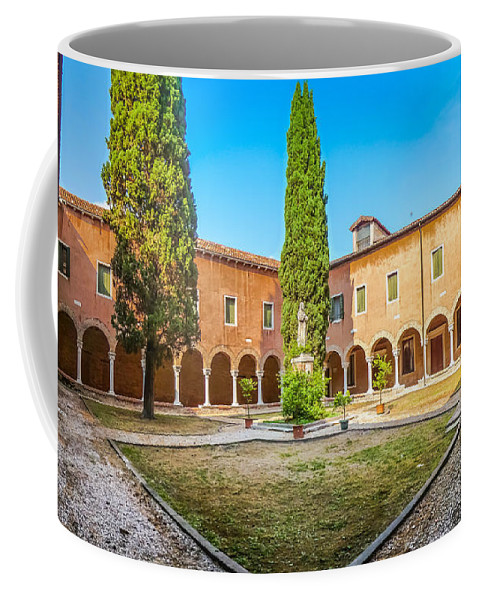 Ancient Coffee Mug featuring the photograph Beautiful Venetian Patio by JR Photography