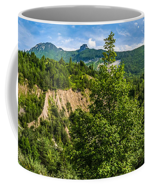Pirago Coffee Mug featuring the photograph Nature Taking Back Its Place At Vajont Dam by JR Photography