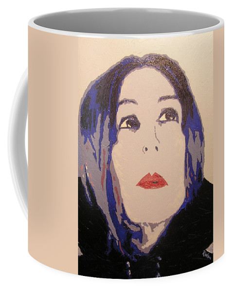 Portrait Coffee Mug featuring the painting Beauty Beyond the Blue by Ricklene Wren