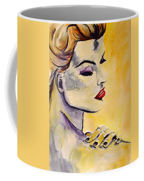 Watercolor Coffee Mug featuring the painting Beauty by Donna Blackhall
