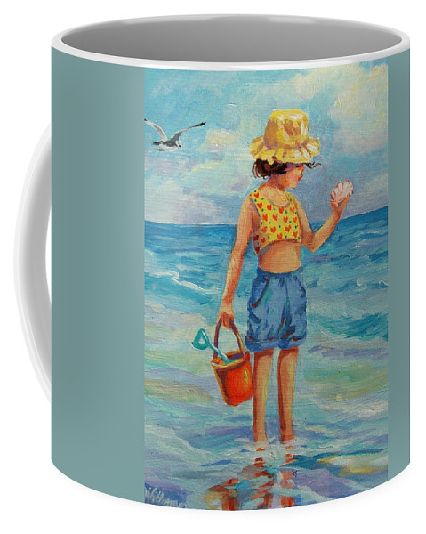Child Coffee Mug featuring the painting Beauty From The Sea by Dianna Willman