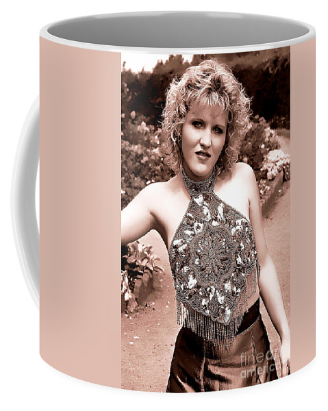 Clay Coffee Mug featuring the photograph Beauty In The Garden by Clayton Bruster