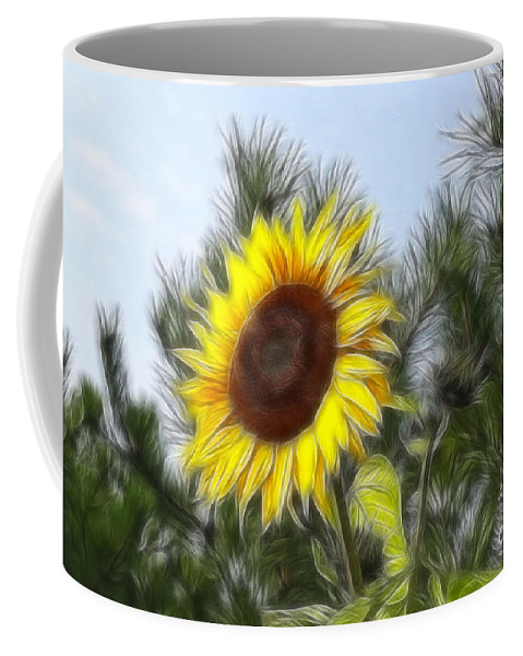 Fratalius Coffee Mug featuring the photograph Beauty In The Pines by Deborah Benoit