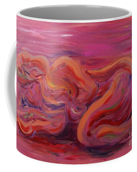 Nude Coffee Mug featuring the painting Beauty by Nadine Rippelmeyer