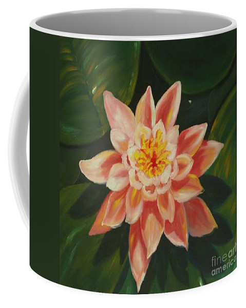 Pond Coffee Mug featuring the painting Beauty Of The Swamps by Milagros Palmieri