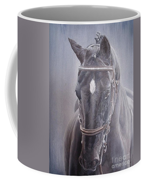 Horse Coffee Mug featuring the painting Beauty Spot by Pauline Sharp
