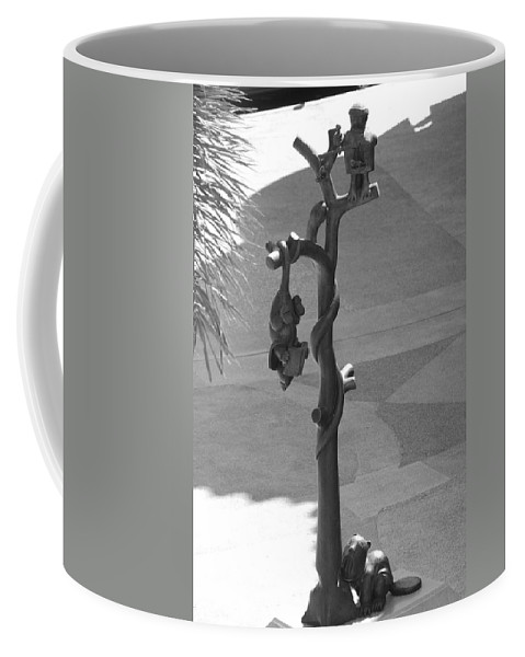 Black And White Coffee Mug featuring the photograph Beavers Bats And Squirrels by Rob Hans