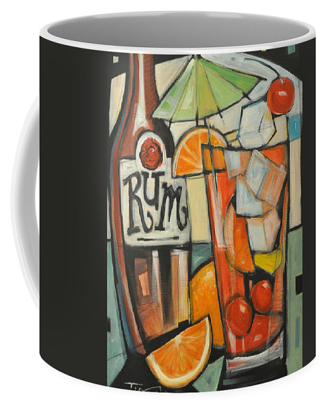 Fruit Coffee Mug featuring the painting Bebida De Turista by Tim Nyberg