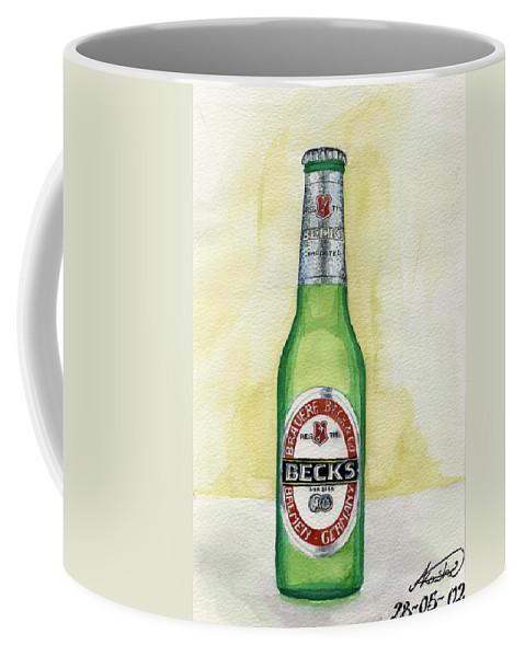 Botle Coffee Mug featuring the painting Becks by Alban Dizdari