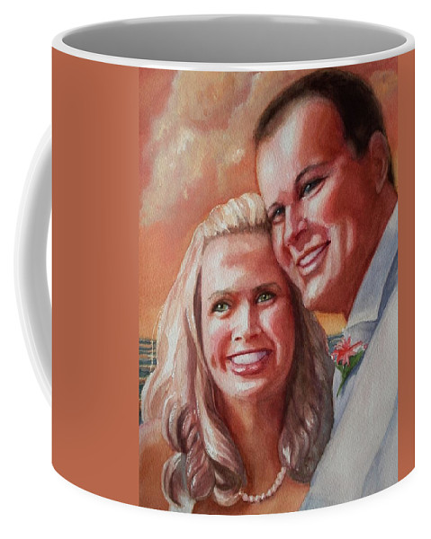 Couple Coffee Mug featuring the painting Becky And Chris by Marilyn Jacobson