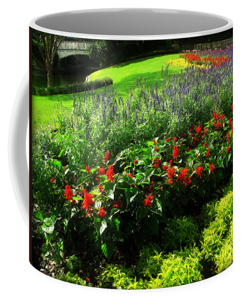 Botanical Coffee Mug featuring the photograph Bed Of Flowers by Joan Minchak