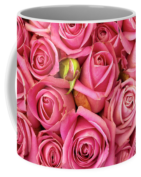 Abstract Coffee Mug featuring the photograph Bed Of Roses by Carlos Caetano