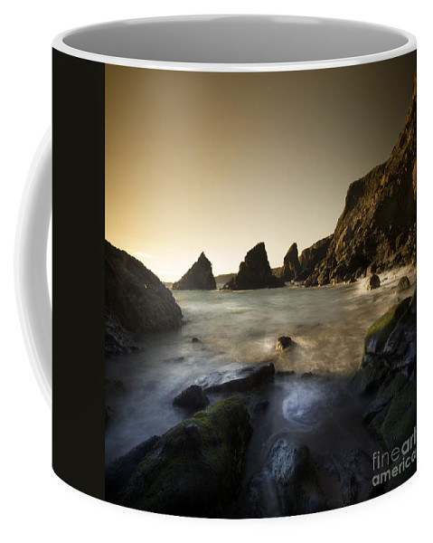 Cornwall Coffee Mug featuring the photograph Bedruthan Steps by Angel Tarantella