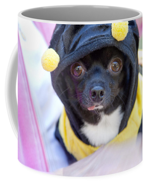 Dog Coffee Mug featuring the photograph Chihuahua Says Bee Mine by Toni Hopper