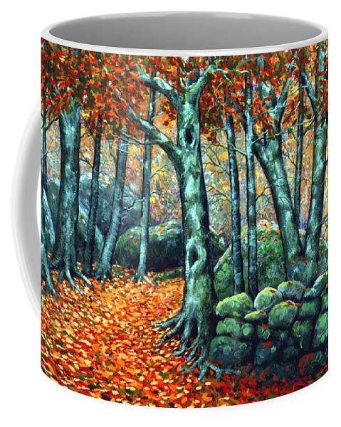 Landscape Coffee Mug featuring the painting Beech Woods by Frank Wilson