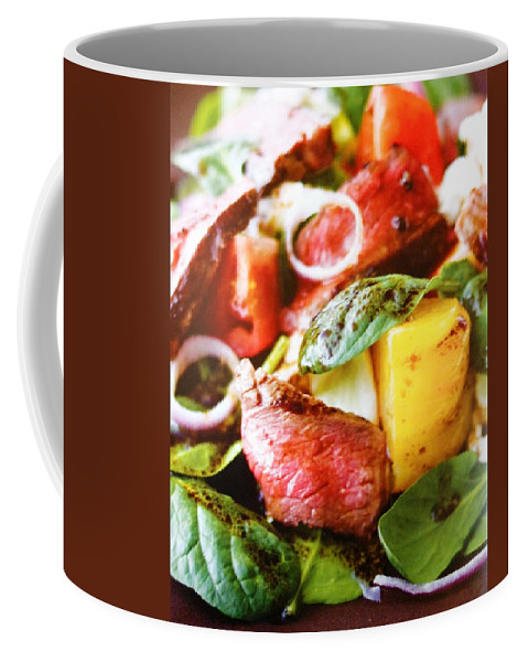 Figs Coffee Mug featuring the photograph Beef And Onions by Lord Frederick Lyle Morris