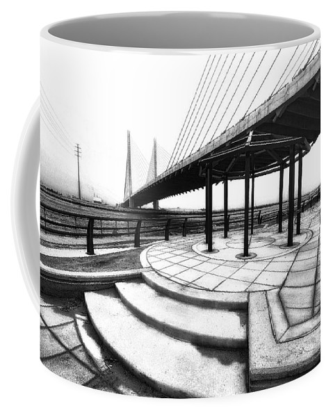 Bridge Coffee Mug featuring the photograph Beeg Breedge by Robert McCubbin