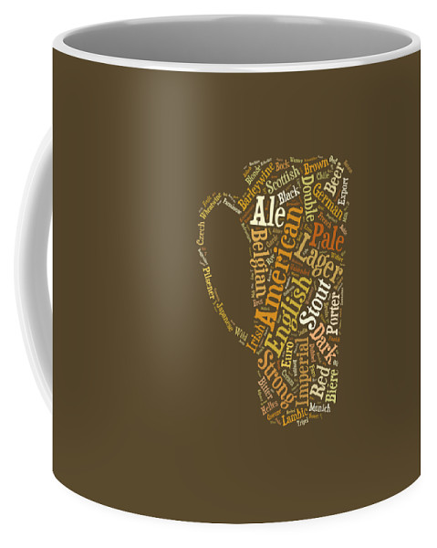 Beer Coffee Mug featuring the digital art Beer Lovers Tee by Edward Fielding