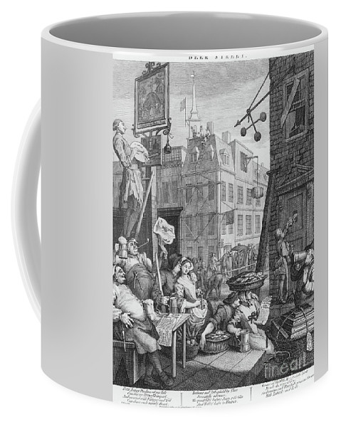 Satire Coffee Mug featuring the drawing Beer Street, 1751 by William Hogarth