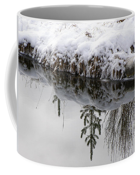 Winter Coffee Mug featuring the photograph Before It Ices Over by DeeLon Merritt