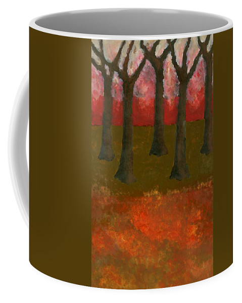 Colour Coffee Mug featuring the painting Before Spring by Wojtek Kowalski