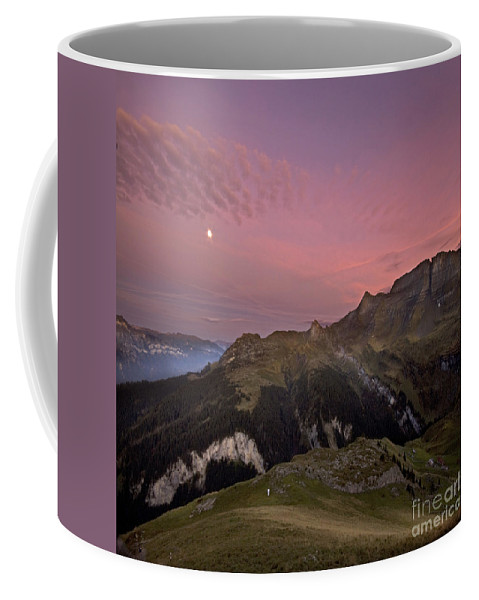 Alps Coffee Mug featuring the photograph Before Sunrise by Angel Ciesniarska