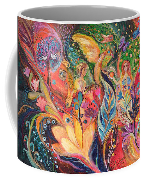 Original Coffee Mug featuring the painting Before The First Sin by Elena Kotliarker