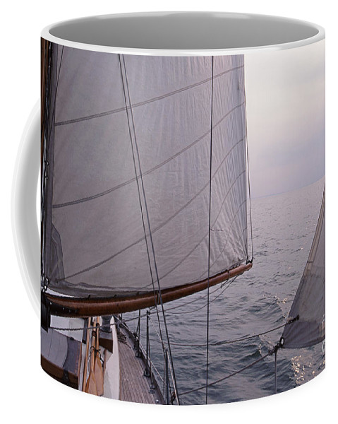 Sail Coffee Mug featuring the photograph Before The Wind by John Harmon