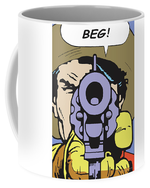 Western Art Coffee Mug featuring the digital art Beg by Shawn Vernon