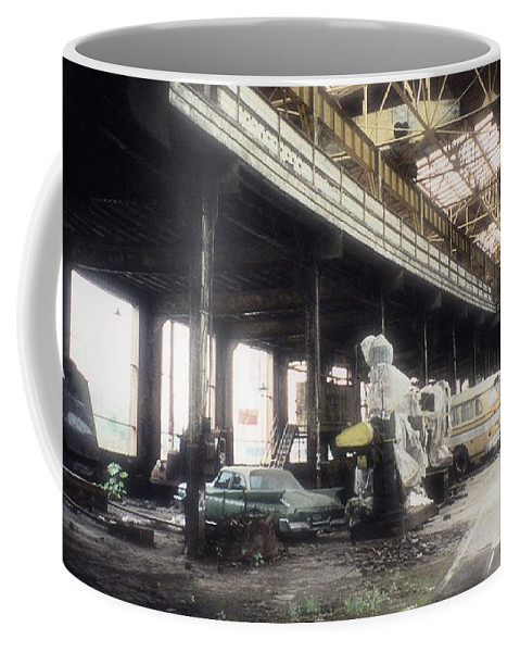Abandoned Coffee Mug featuring the photograph Behind Closed Doors by Richard Rizzo