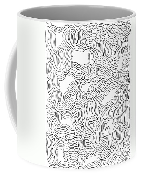 Mazes Coffee Mug featuring the drawing Behind Closed Eyes by Steven Natanson