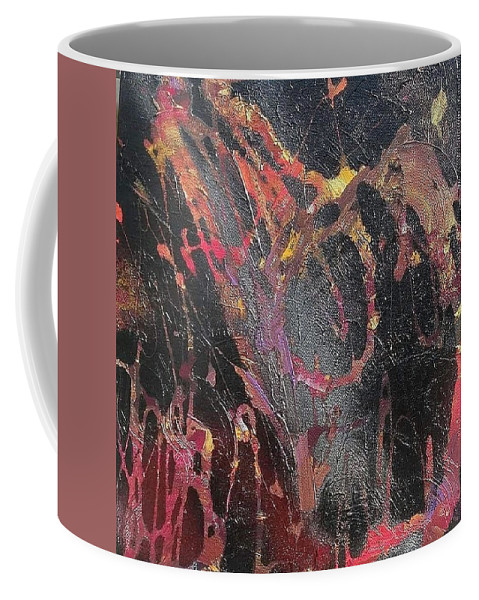 Positivity Coffee Mug featuring the mixed media Life Beyond Darkness by Sabiha Hasan