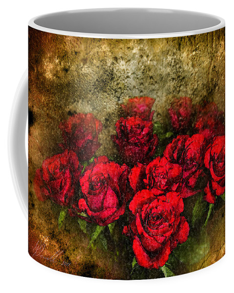 Floral Coffee Mug featuring the digital art Behind The Glass by Svetlana Sewell