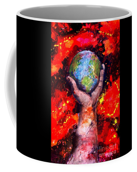 World Coffee Mug featuring the painting Behold by Patty Kingsley