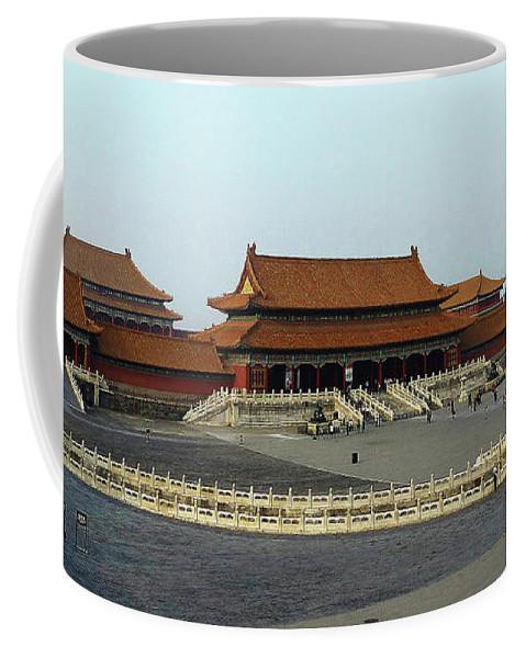 Beijing Coffee Mug featuring the photograph Beijing City 28 by Xueling Zou