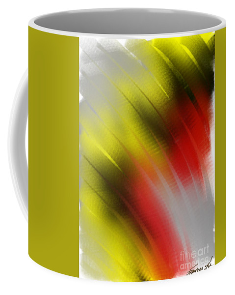 Abstract Coffee Mug featuring the painting Being Free by Frances Ku