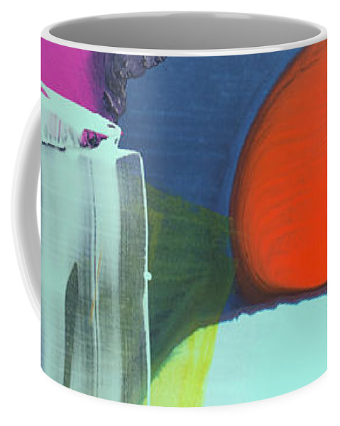 Abstract Coffee Mug featuring the painting Being Sincere by Claire Desjardins