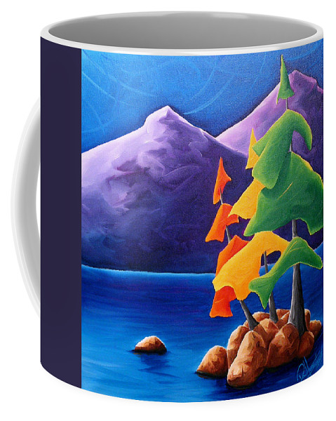 Landscape Coffee Mug featuring the painting Being Thankful by Richard Hoedl