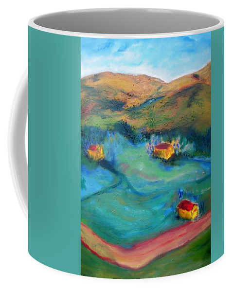 Landscape Coffee Mug featuring the painting Beit Shemesh by Suzanne Udell Levinger