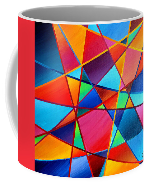Jewel Coffee Mug featuring the painting Bejeweled by Jeremy Aiyadurai