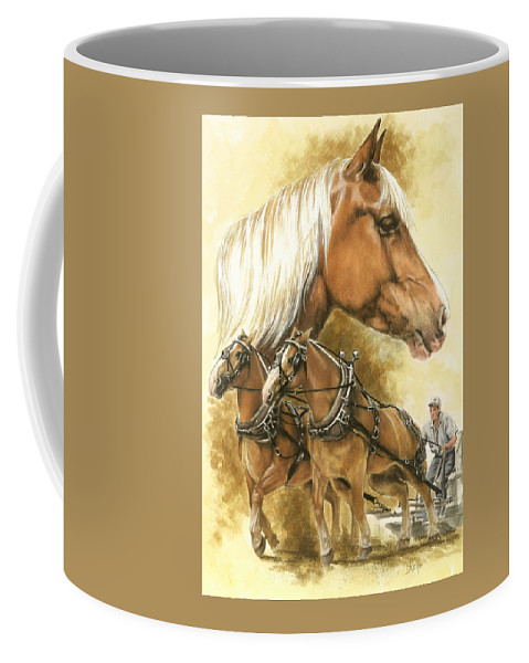Equus Coffee Mug featuring the mixed media Belgian by Barbara Keith