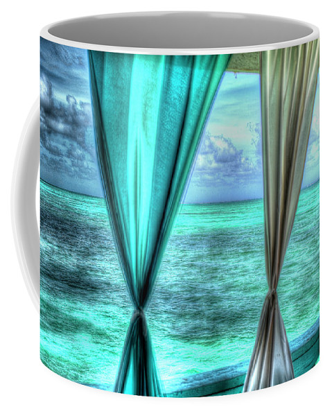 Curtains Coffee Mug featuring the photograph Belize Curtains #1 by Jim Wagner