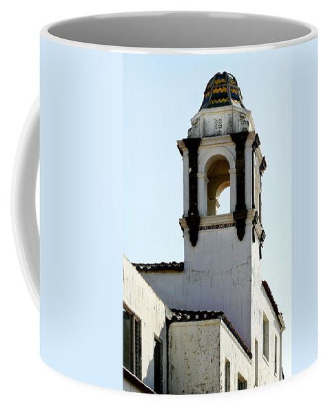 Bell Coffee Mug featuring the photograph Bell Tower In Santa Cruz by Marilyn Hunt