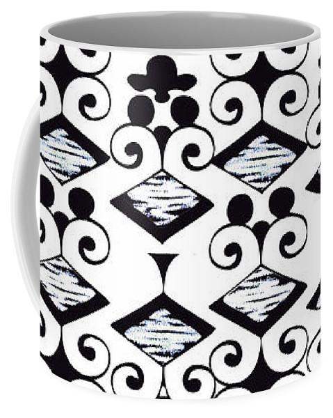 Black And White Coffee Mug featuring the digital art Bella 6 by Ceil Diskin