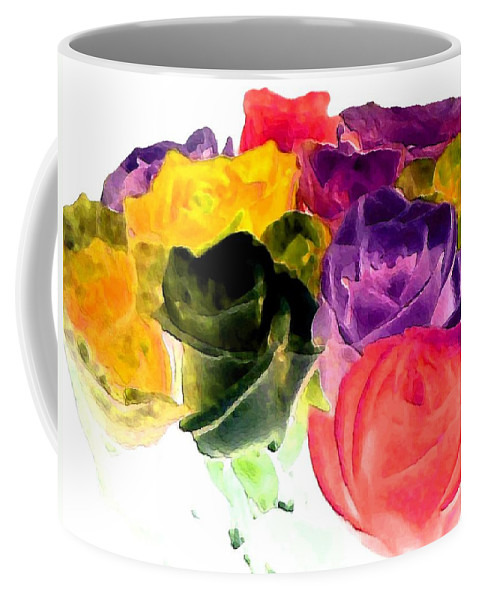 Bella Flora Coffee Mug featuring the digital art Bella Flora 6 by Will Borden