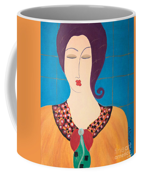#female #figurative #photography # Fineart #art #images #painting #artist #painter #artlover Coffee Mug featuring the painting Bella by Jacquelinemari